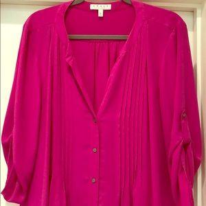 Chaus New York pink top
